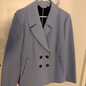 Halogen Ponte Light Blue Blazer